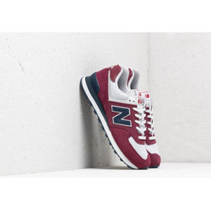 New Balance 574 Burgundy/ Navy/ White