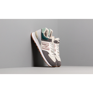 New Balance 574 Grey/ Off White/ Green