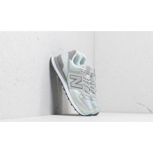 New Balance 574 Metallic Grey/ Green