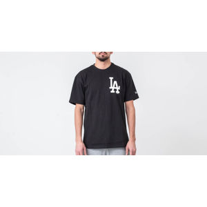New Era MLB Oversized Logo Tee Los Angeles Dodgers Black