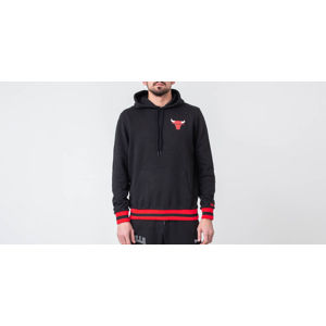 New Era NBA Stripe Rib Hoodie Chicago Bulls Black