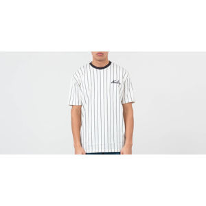New Era Pinstripe Oversized Tee White/ Navy Blue