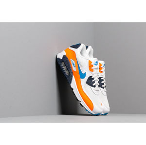 Nike Air Max 90 Essential White/ Photo Blue-Total Orange