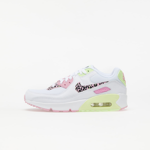 Nike Air Max 90 GS White/ Pink Rise-Pink Rise-Barely Volt