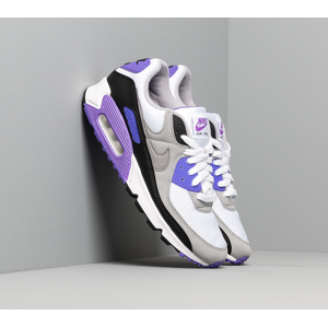 Nike Air Max 90 White/ Particle Grey-Hyper Grape-Black