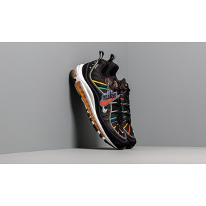 Nike Air Max 98 Premium Black/ Flash Crimson-Kinetic Green
