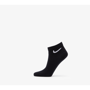 Nike Everyday Lightweight Ankle 3 Pack Socks Black/ White/ Grey