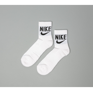 Nike Heritage 2 Pair Ankle Socks White/ Black