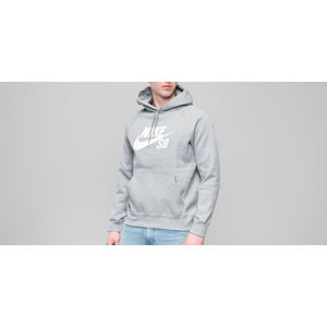 Nike SB Icon Hoodie Dark Grey Heather/ White