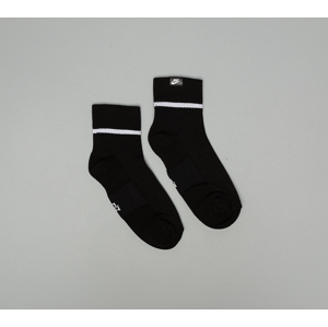 Nike Sneaker Essential Ankle Sox 2 Pair Black/ White/ White