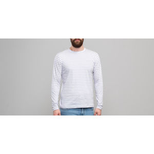 Norse Projects James Logo Stripe Longsleeve Tee Heather