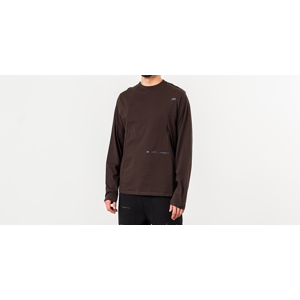 Oakley by Samuel Ross Skydiver Zipped Long Sleeve Tee Brown