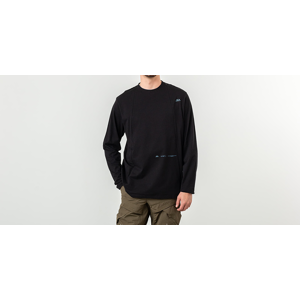 Oakley Skydiver Zipped Long Sleeve Tee Blackout