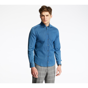 Pietro Filipi Men's Denim Shirt Blue