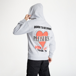 PLEASURES Deep Love Hoody Heather Grey
