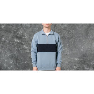 Polar Block Zip Sweatshirt Dusty Blue/ Navy