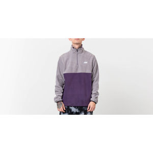 RIPNDIP Castanza Half Zip Brushed Fleece Sweater Grey