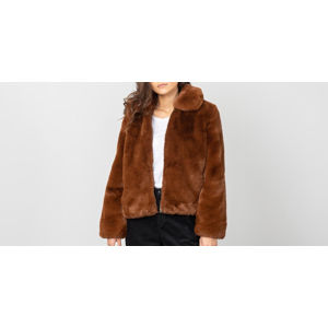 SELECTED Faya Faux Fur Jacket Tortoise Shell