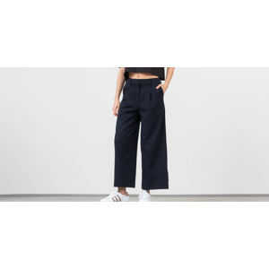 SELECTED Gabby Mid Waist Cropped Wide Pants Dark Saphire/ White