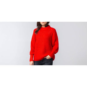 SELECTED Ginna Longsleeve Knit O-Neck Pullover True Red
