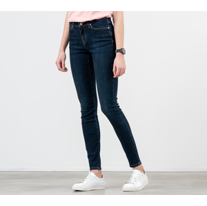 SELECTED Mid Waist Skinny Fit Jeans Dark Blue Denim