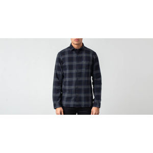SELECTED Reg Patterned Shirt Dark Navy/ Grey