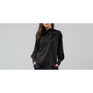 SELECTED Slfquinn Longsleeve Neck Tie Blouse Black