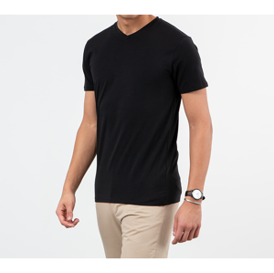 SELECTED V-Neck Tee Black