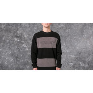 Stüssy Paneled Long Sleeve Crew Black