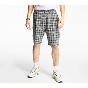 Stüssy Plaid Linen Bryan Shorts Navy