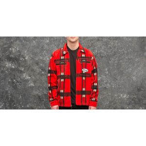 Stüssy Polar Fleece Zip Up Shirt Red