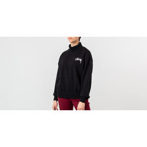 Stüssy Weller Turtleneck Fleece Crewneck Black