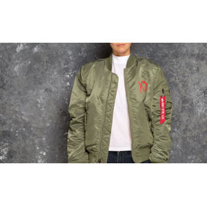 The Weeknd Stargirl Women's Bomber Sage Green