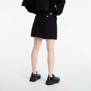 Tommy Jeans Badge Button Through Skirt Black