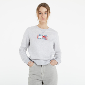 Tommy Jeans BXY Timless Flag Sweatshirt Silver Grey Htr
