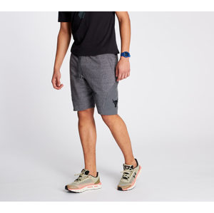Under Armour Project Rock Terry Shorts Pitch Gray Full Heather/ Black