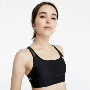 Under Armour Project Rock X-Back Mid Sport Bra Black/ Black/ Summit White