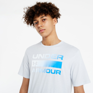 Under Armour Team Issue Wordmark Shortsleeve Tee Halo Gray/ Blue Circuit