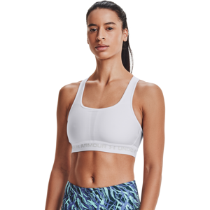 Under Armour W Crossback Mid Bra White/ Halo Gray