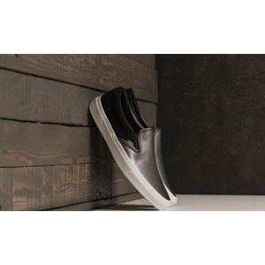Vans Classic Slip-On (2-Tone Metallic) Black/ True White