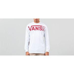 Vans Distorted Longsleeve Tee White/ Red