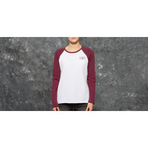 Vans Full Patch Boyfriend Raglan Tee White/ Burgundy