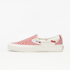 Vans OG Classic Slip-On (Canvas) Optical Checkerboard Red/ Marshmallow
