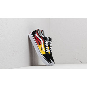 Vans Old Skool (Flame) Black/ Black/ True White