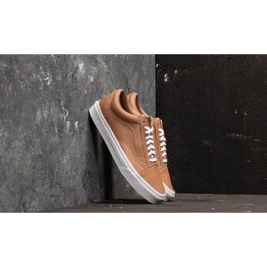 Vans Old Skool (Leather) Tawny Brown/ True White