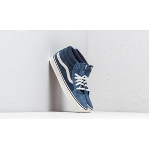 Vans SK8-Mid Reissue (Hairy Suede Mix) Dress Blue/ Snow White